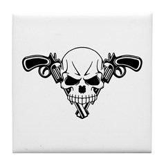 Skull and Guns Tile Coaster