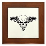 Skull and Guns Framed Tile