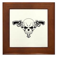 Skull and Guns Framed Tile