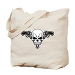 Skull and Guns Tote Bag