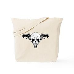 Skull and Guns Tote Bag