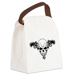 Skull and Guns Canvas Lunch Bag