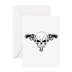 Skull and Guns Greeting Card