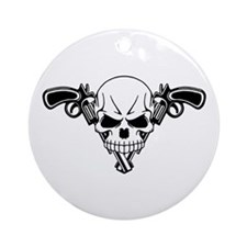 Skull and Guns Ornament (Round)