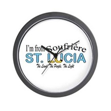 Soufriere St. Lucia Wall Clock