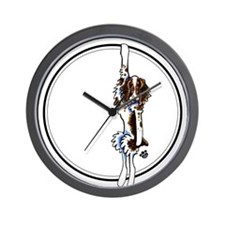 Clingy Springer Wall Clock