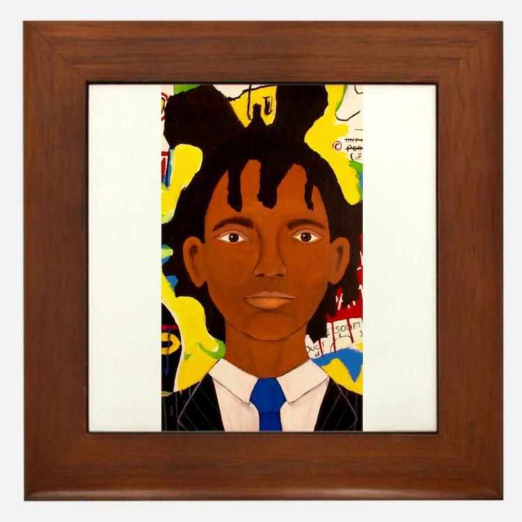 Jean-Michel Basquiat Framed Tile