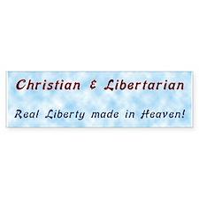 Christian & Libertarian Bumper Sticker ver.1