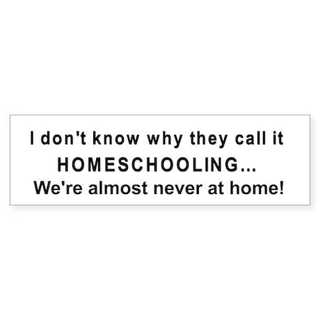 Homeschooling bumper sticker