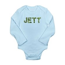Jett, Vintage Camo, Long Sleeve Infant Bodysuit