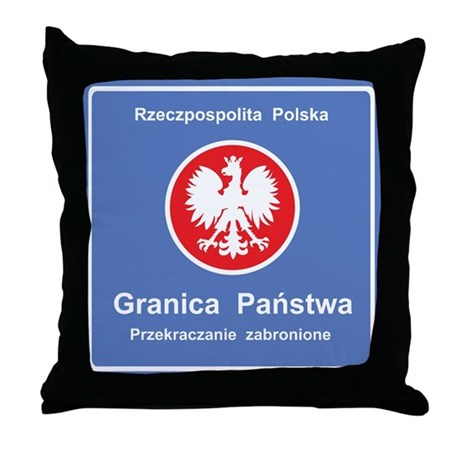 Granica Panstwa Throw Pillow
