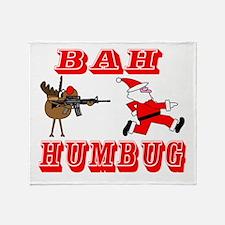 Bah Humbug gunfight tr copy.png Throw Blanket