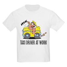 Taxi Driver At Work Kids T-Shirt
