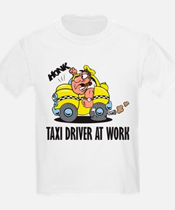 Taxi Driver At Work Kids T-Shirt