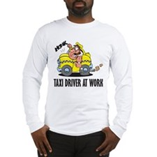 Taxi Driver At Work Long Sleeve T-Shirt