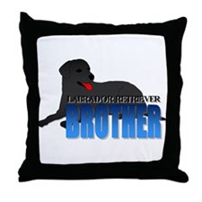 Black Labrador Retriever Brother Throw Pillow