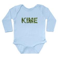Kime, Vintage Camo, Long Sleeve Infant Bodysuit