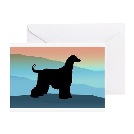 Afghan Hound Blue Mts Greeting Cards (Pk of 10)