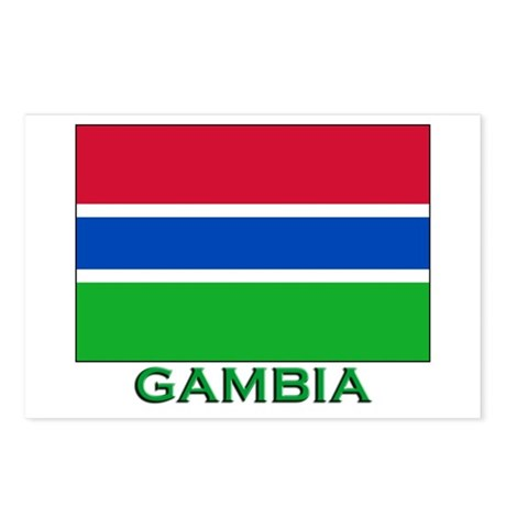 Gambia Flag Stuff Postcards (Package of 8)