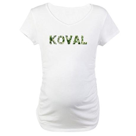 Koval, Vintage Camo, Maternity T-Shirt