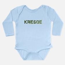 Kresge, Vintage Camo, Long Sleeve Infant Bodysuit