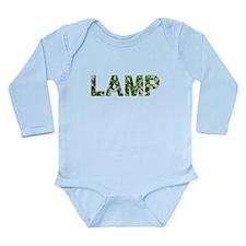 Lamp, Vintage Camo, Long Sleeve Infant Bodysuit
