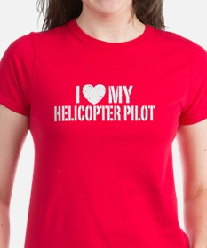 I Love My Helicopter Pilot Tee
