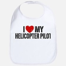 I Love My Helicopter Pilot Bib