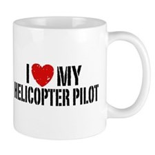 I Love My Helicopter Pilot Mug