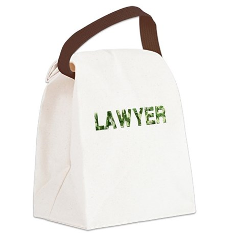 Lawyer, Vintage Camo, Canvas Lunch Bag