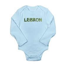 Lebron, Vintage Camo, Long Sleeve Infant Bodysuit