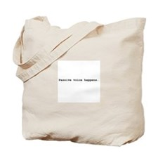 Passive Voice Tote Bag