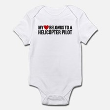 My Heart Helicopter Pilot Infant Bodysuit
