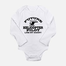Future Helicopter Pilot Long Sleeve Infant Bodysui