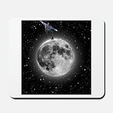 """Skating on the moon"" Mousepad"