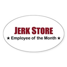Jerk Store Oval Decal