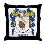 Marcos Coat of Arms Throw Pillow