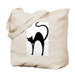 Pretty Black Cat Trick or Treat Bag