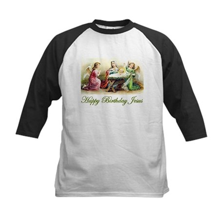 Happy Birthday Jesus Kids Baseball Jersey