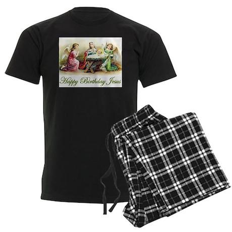 Happy Birthday Jesus Men's Dark Pajamas