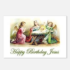 Happy Birthday Jesus Postcards (Package of 8)