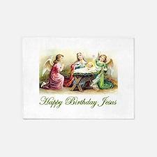 Happy Birthday Jesus 5'x7'Area Rug