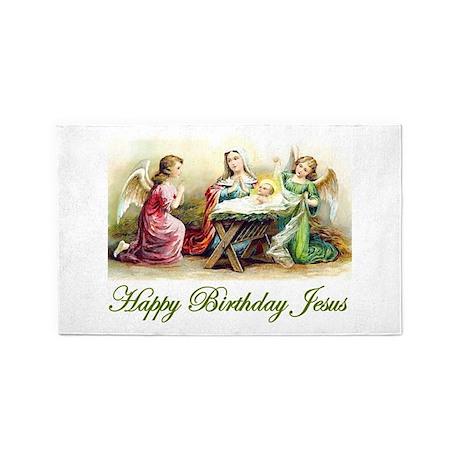 Happy Birthday Jesus 3'x5' Area Rug