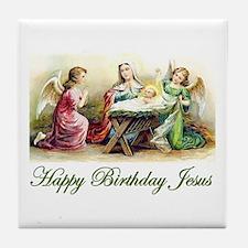 Happy Birthday Jesus Tile Coaster