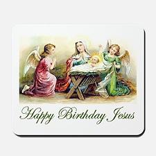 Happy Birthday Jesus Mousepad