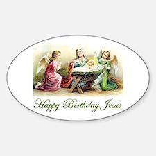 Happy Birthday Jesus Decal