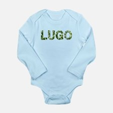 Lugo, Vintage Camo, Long Sleeve Infant Bodysuit