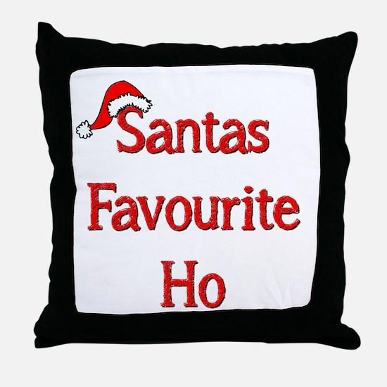 Santas Favourite Ho Throw Pillow