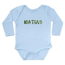 Matias, Vintage Camo, Long Sleeve Infant Bodysuit