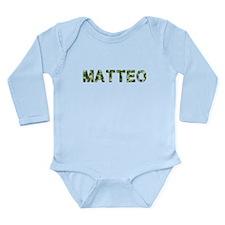 Matteo, Vintage Camo, Long Sleeve Infant Bodysuit
